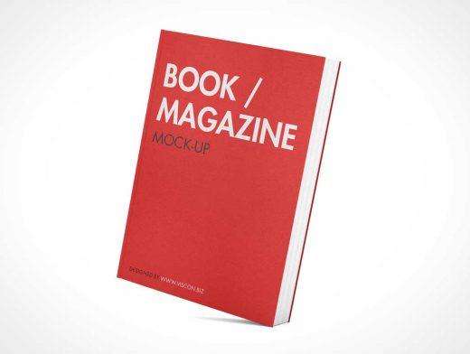 Hardcover Book Magazine PSD Mockup