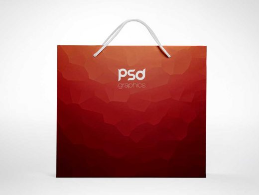 Large Shopping Paper Bag PSD Mockup