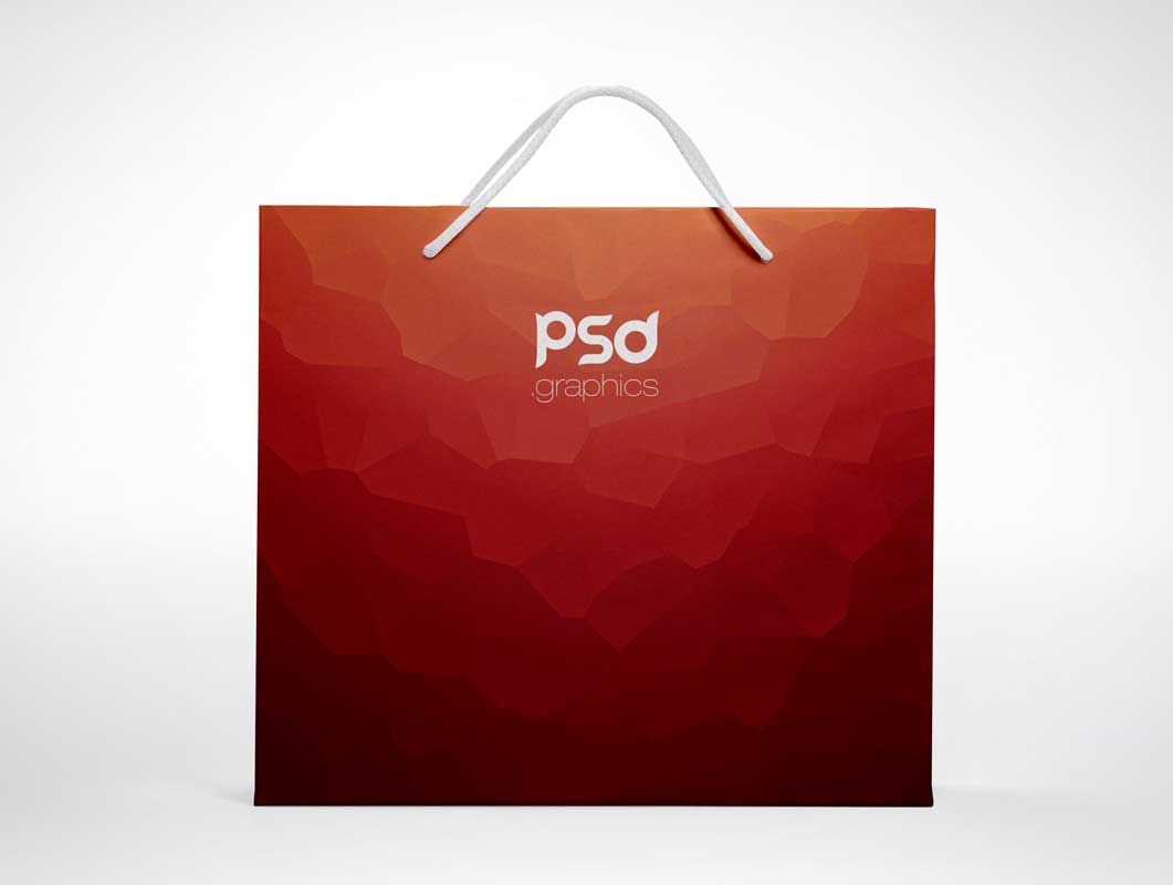 Large Shopping Paper Bag PSD Mockup