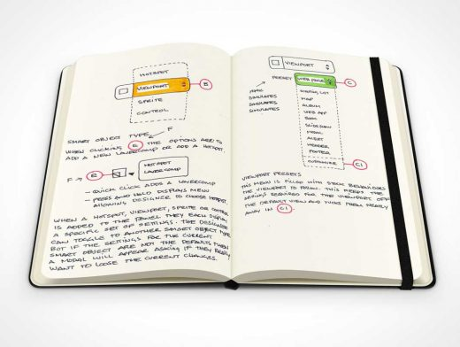 Moleskine Notebook PSD Mockup With Elastic Band