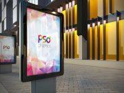 Outdoor Billboard Advertising PSD Mockup