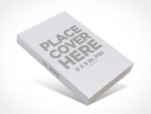 Propped Up 6 x 9 Paperback Book PSD Mockup