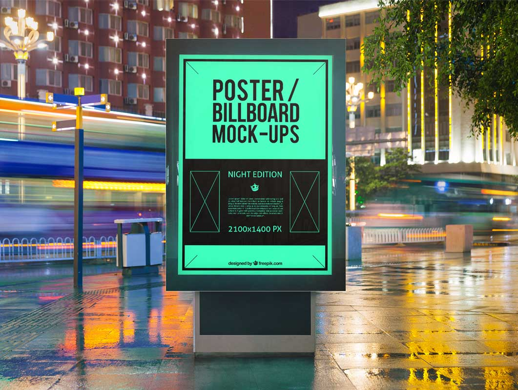 Realistic Urban Billboard PSD Mockups