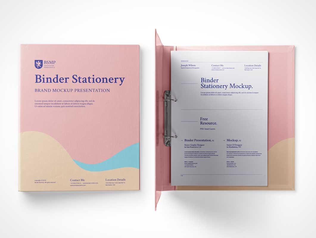 Ring Binder PSD Mockup Open And Closed