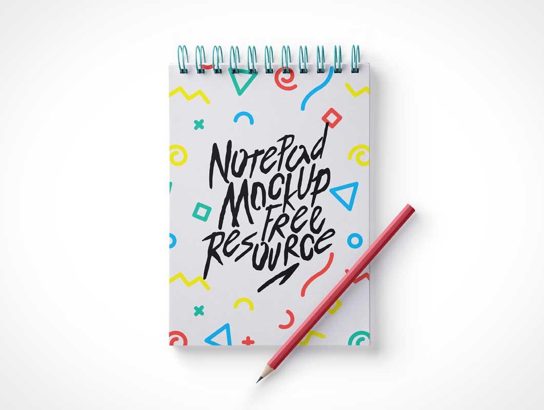 Ringed Sketch Notepad PSD Mockup - PSD Mockups