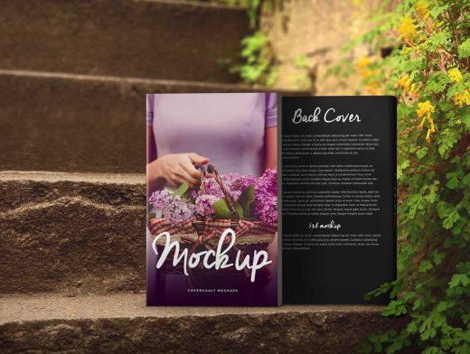 Romantic Steps 5 x 8 Paperback Book PSD Mockup