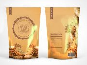 Snack Pouch Product Bag PSD Mockup