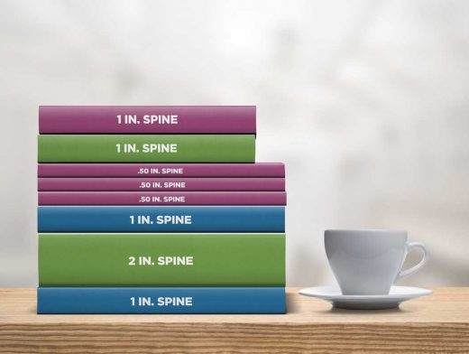 Stacked Book Collection PSD Mockup With Coffee Cup