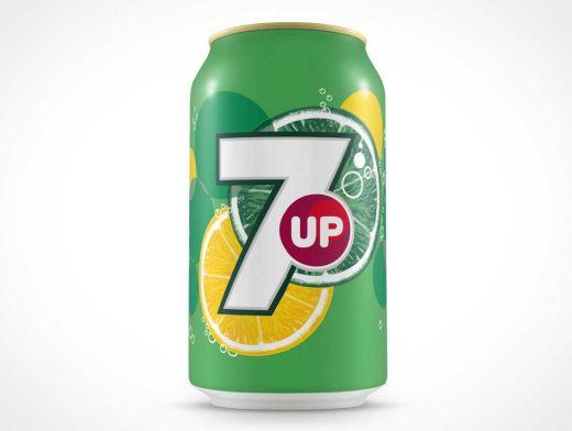 Standard Soda Can PSD Mockup