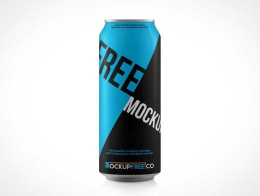 Tall Soda Can PSD Mockup