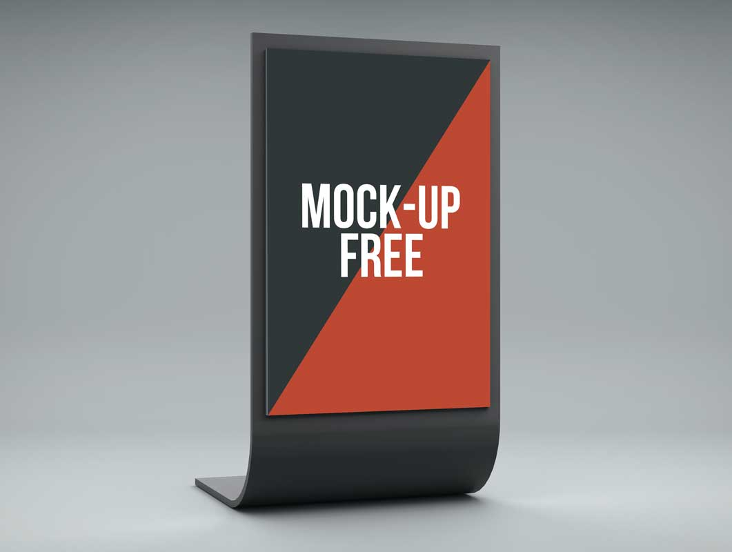 Poster design mockup - Trade Show Poster Display Psd Mockup