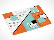 Tri Fold Brochure PSD Mockup A4 Design
