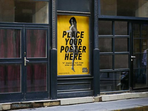 Urban Billboard Poster PSD Mockup