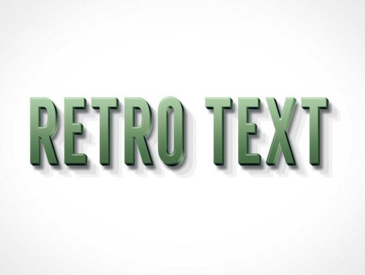 3D Retro Layer Style PSD Mockup