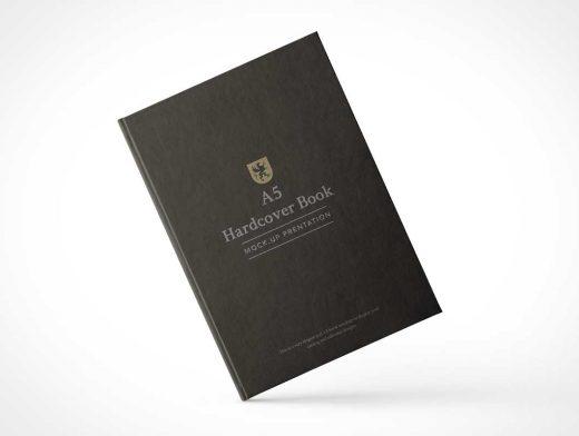 A5 Hardcover Book PSD Mockup