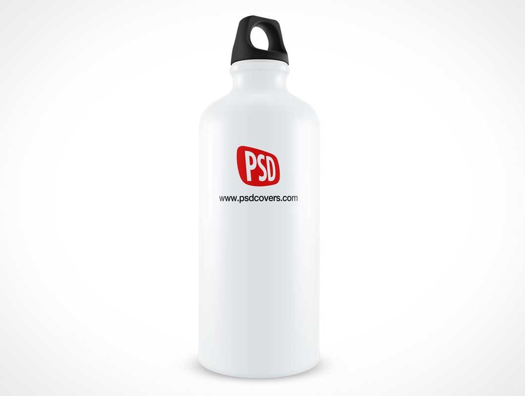 Aluminium Water Sports Bottle PSD Mockup