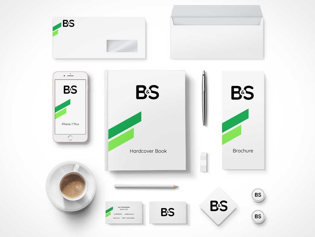 branding & stationery psd mockup - psd mockups, Powerpoint templates