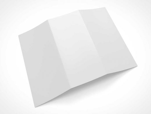 Face Down TriFold Brochure PSD Mockup