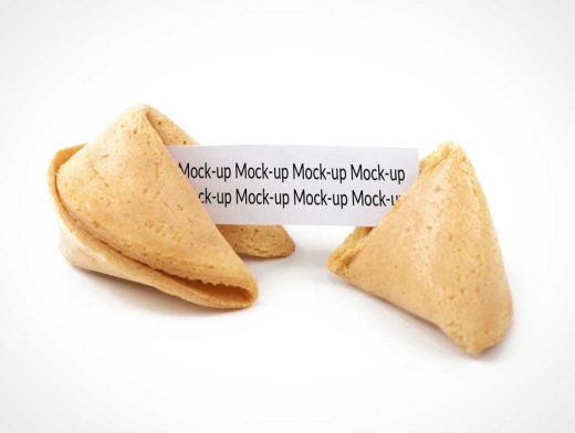 Fortune Cookie PSD Mockup