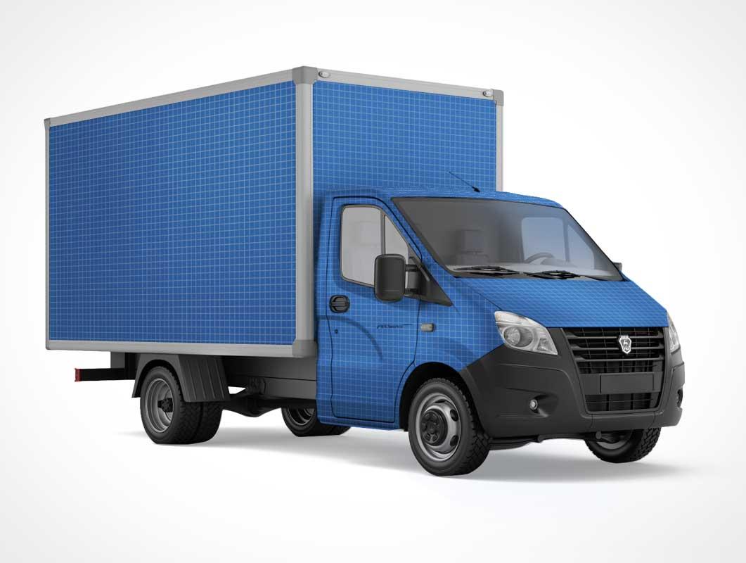 Gazelle Transportation Truck PSD Mockup