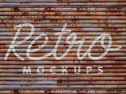 Grunge Wall Retro PSD Mockups