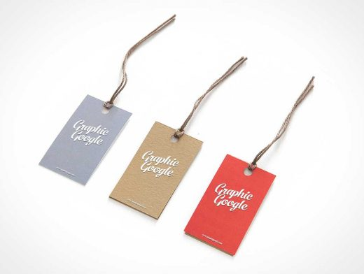 Hang Tag Label With Logo PSD Mockup
