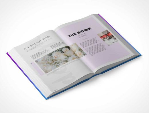 Hardback Book PSD Mockup Multiple Views
