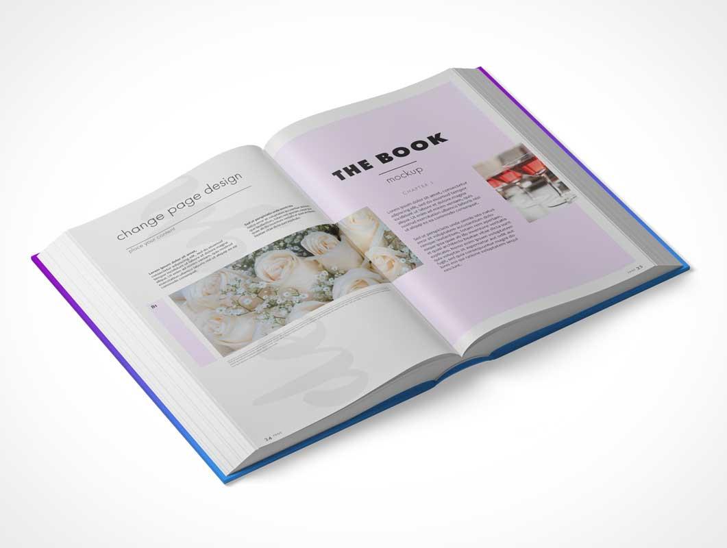Hardback Book PSD Mockup Multiple Views