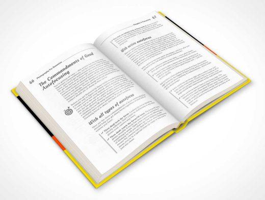 Hardbound Book 45 Degree Presentation PSD Mockup