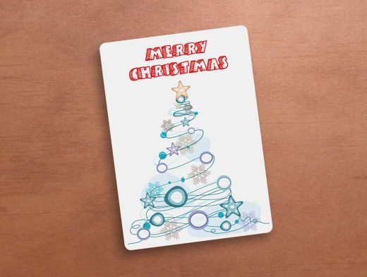 Holiday Greeting Card Cover PSD Mockup