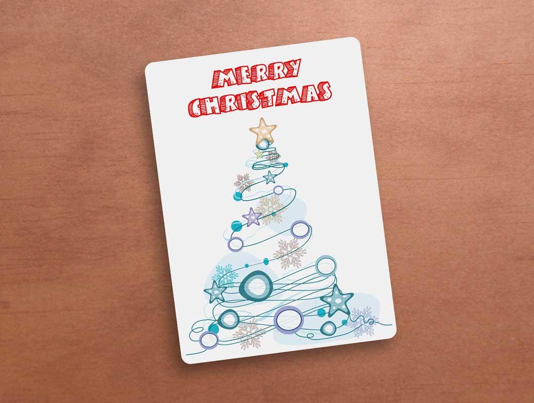 Holiday Greeting Card Cover PSD Mockup