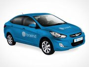 Hyundai Solaris PSD Mockup