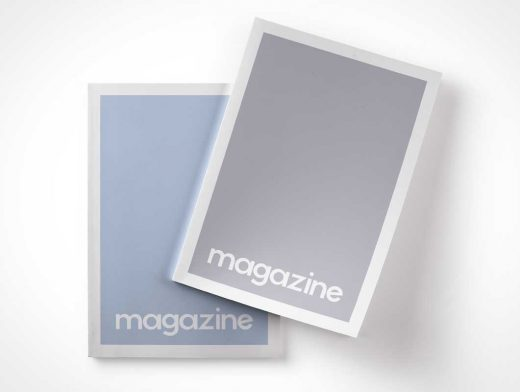 Magazine Top View PSD Mockup