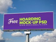 Outdoor Advertising Hoarding PSD Mockup