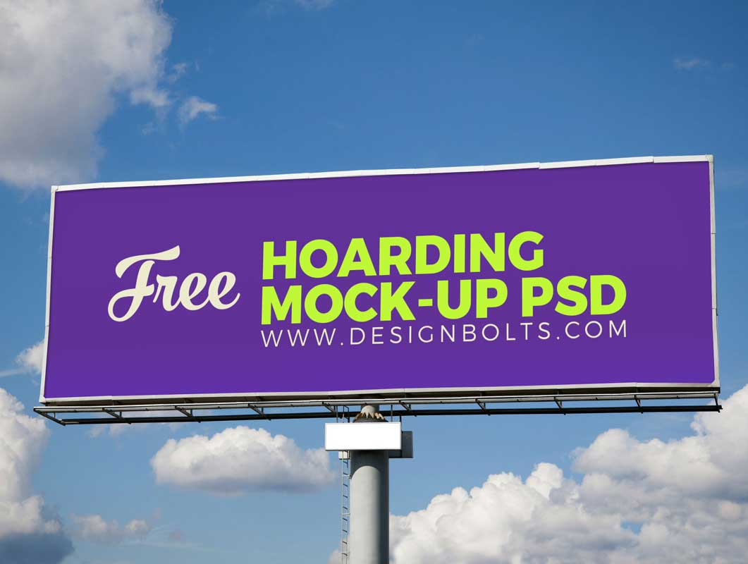 Outdoor Advertising Hoarding PSD Mockup