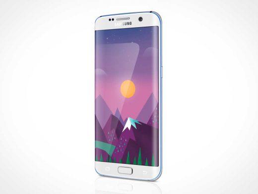 Samsung Galaxy S7 Edge PSD Mockup
