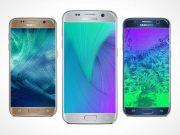 Samsung Galaxy S7 Silver PSD Mockup