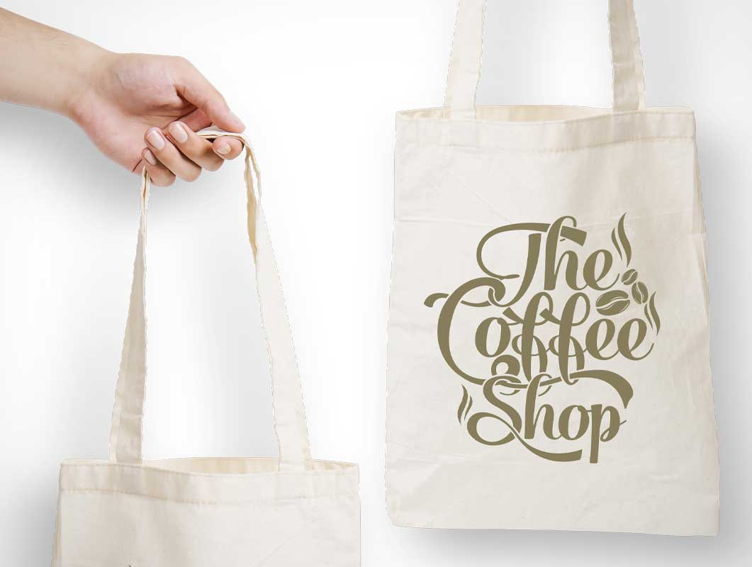 Shoulder Carry Canvas Tote Bag PSD Mockup