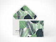 Standing Envelope Branding PSD Mockup