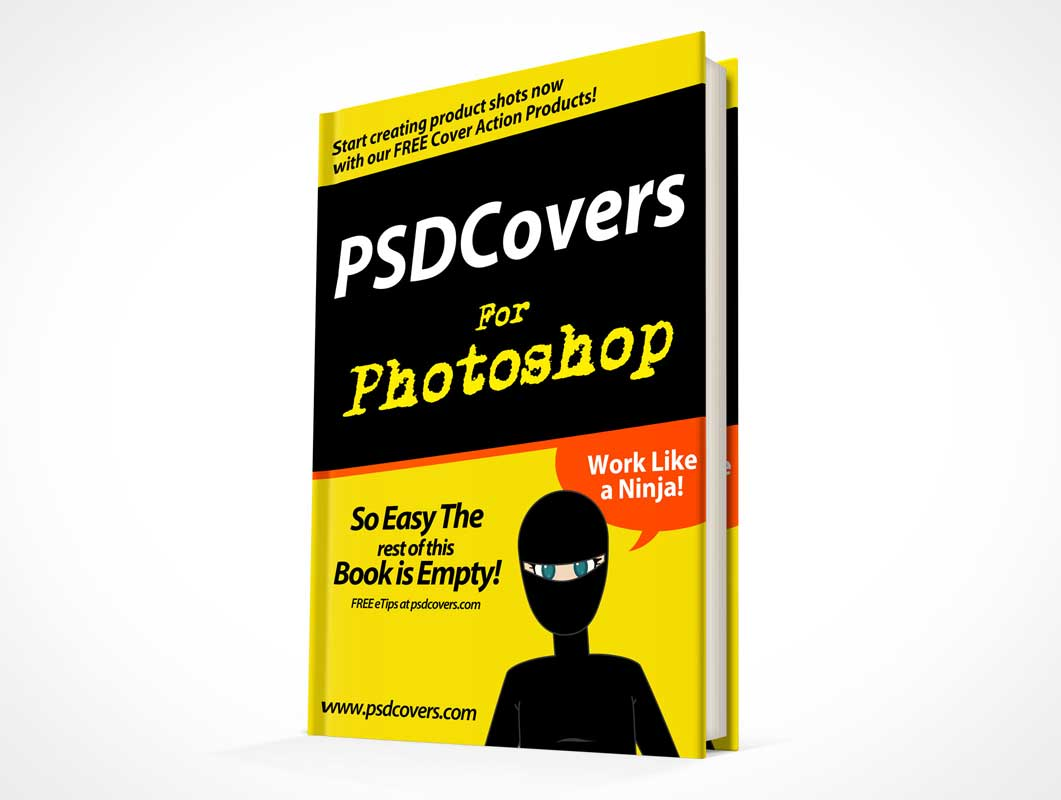 Standing Hardbound Children's Book PSD Mockup