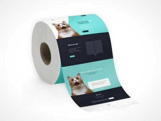 Toilet Paper Roll PSD Mockup