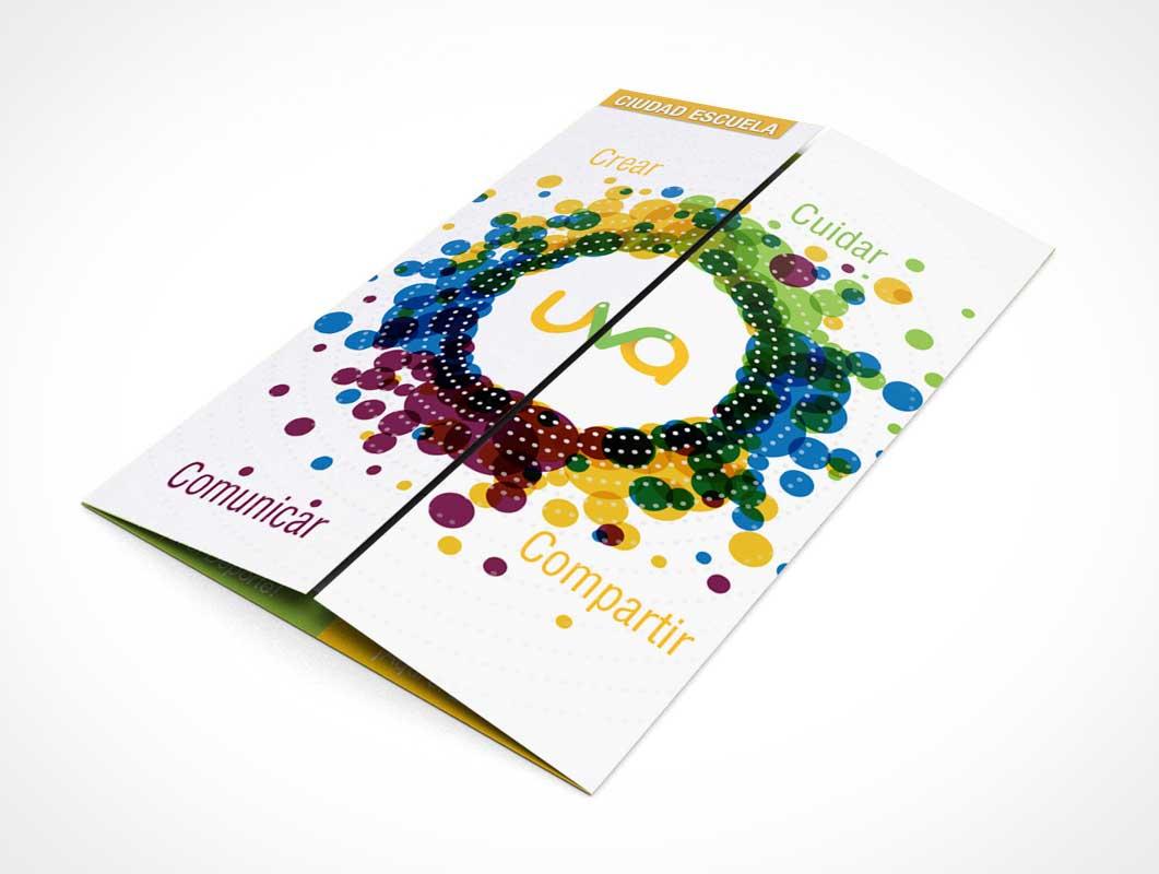Tri Fold Gate Brochure Handout PSD Mockups