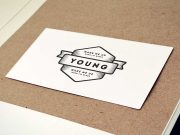 Vintage Business Card Logo On Cork-board PSD Mockup