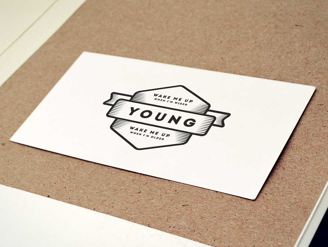 Vintage Business Card Logo On Cork-board PSD Mockup - PSD Mockups