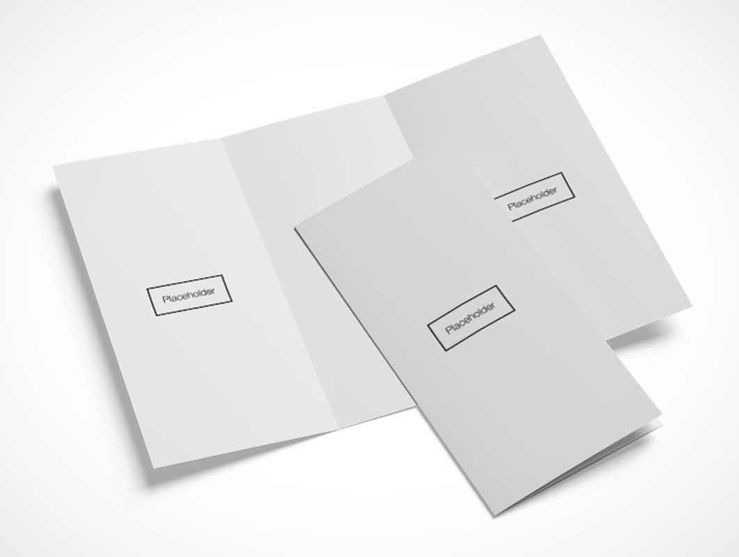16 Brochure Tri-fold Layouts PSD Mockup