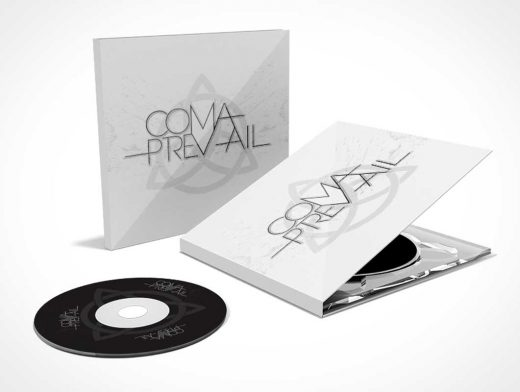 Booklet CD Jewel Case PSD Mockup