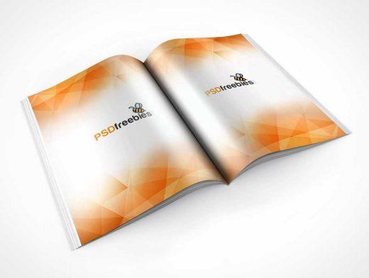 Brochure Magazine Centrefold PSD Mockup