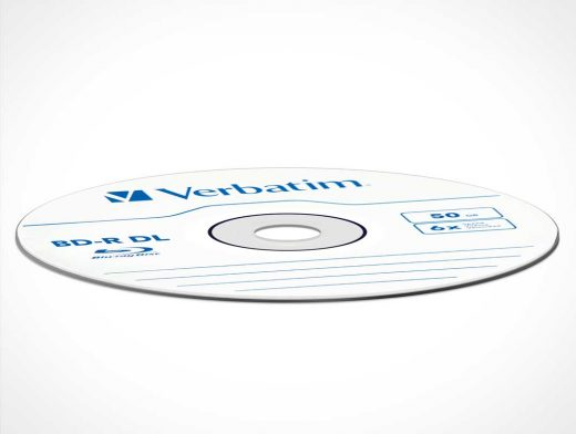 CD DVD Or BluRay Disc PSD Mockup