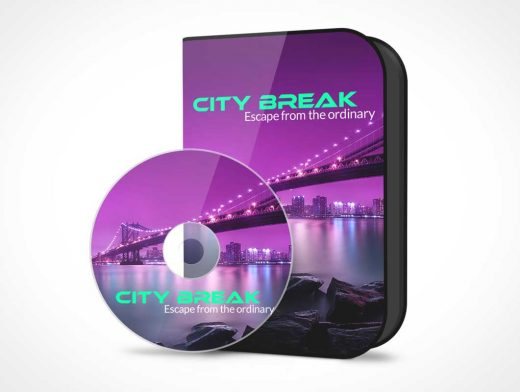 CD Software Jewel Case PSD Mockup