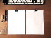 CV Resume On Simple Din A4 Format Paper PSD Mockup